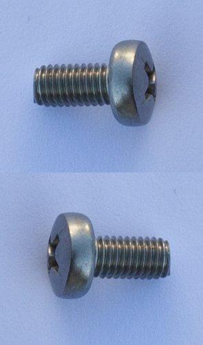 2 Edelstahl-Schrauben M5 x 10 für Befestigung / Halterung Fahrrad-Kettenschutz