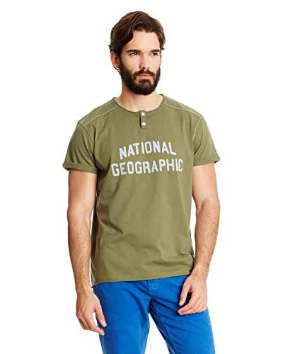 National Geographic T-Shirt Manica Corta [Verde]