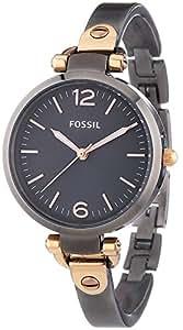 Fossil Damen-Armbanduhr XS Georgia Analog Quarz Edelstahl ES3111