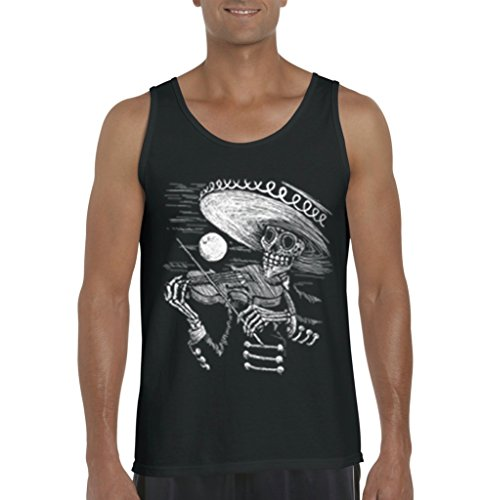 Mariachi Skeleton Day of the Dead Mens Tank Top
