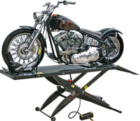 Black Widow Air Operated Premium Pneumatic Motorcycle Lift Table