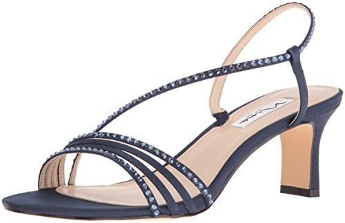 Nina Women's Gerri Dress Sandal, New Navy LS Sat/Navy Ston, 10 M US