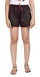 Abony Women's Cotton Shorts (GBC606_XXL, Black, XXL)