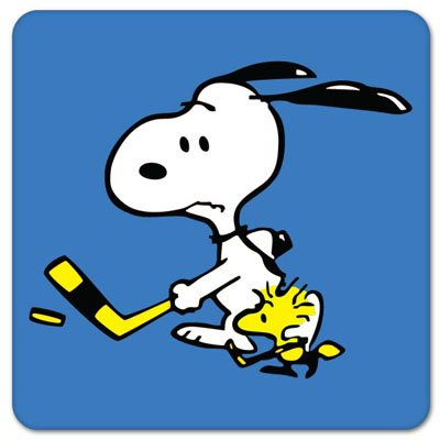 Snoopy And Woodstock Hockey Vynil Car Sticker Decal - Select Size front-437065