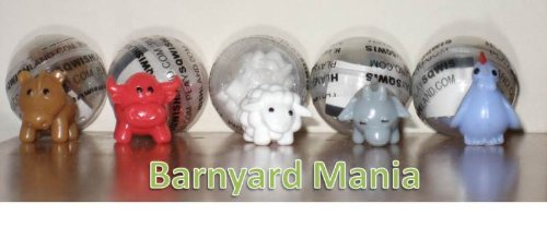 BARNYARD MANIA - Complete Set of 5 Squishies W/ GAME CODES FOR SQWISHLAND WEBSITE