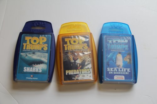 Top Trumps card game - Animal favorite 3 pack #2 with Predators, Sealife In Danger, Sharks (Top Trumps Sharks compare prices)
