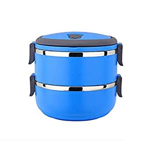 bento lunch box lunch containers 2 tier tiffin round vacuum s. Black Bedroom Furniture Sets. Home Design Ideas