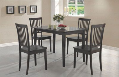 Coaster 5-Piece Dining Set, Table Top With 4 Chairs, Cappuccino Wood front-901813