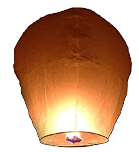 36 Sky Lanterns 1 CASE - White by Sky Fly Fire Lanterns