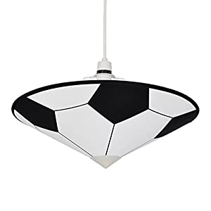 Cool Black & White Football Children's Bedroom Ceiling Pendant Light Shade Uplighter