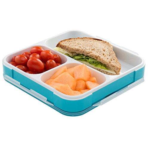 bento lunch box with insulated bag slim design fits in. Black Bedroom Furniture Sets. Home Design Ideas