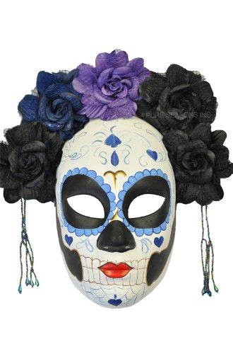 La Calavera Catrina Masquerade Mask (Black/Blue)