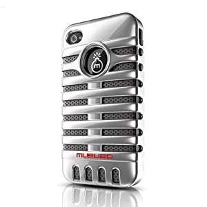 Musubo Retro Case for iPhone 4/4S-Silver