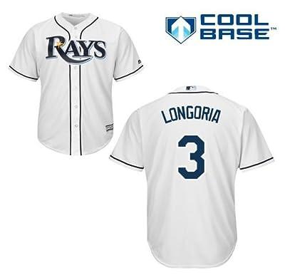 Evan Longoria Tampa Bay Rays #3 MLB Men's Cool Base Home Jersey