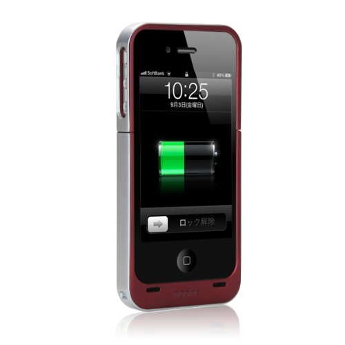 正規品 mophie Juice Pack Air for iPhone 4S/4 レッド MOP-PH-9