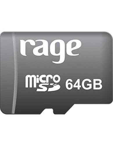 Rage 64GB Class 10 MicroSDHC Memory Card
