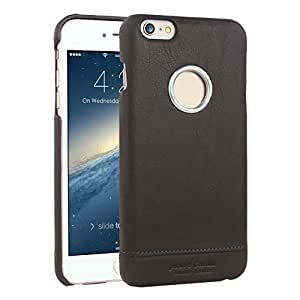 Pierre Cardin Coffee Leather Logo Cut Back Case Cover For Apple iPhone 6S 6 4.7