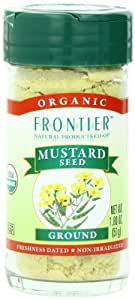 Frontier Ground Organic Mustard Seed, Yellow, 1.8 Ounce (Pack of 12)