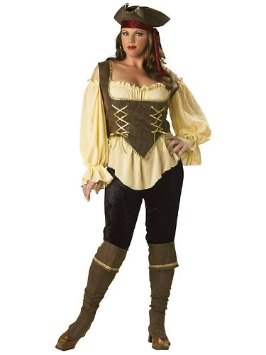 In Character Costumes - Rustic Pirate Lady Elite Collection Adult Plus Costume