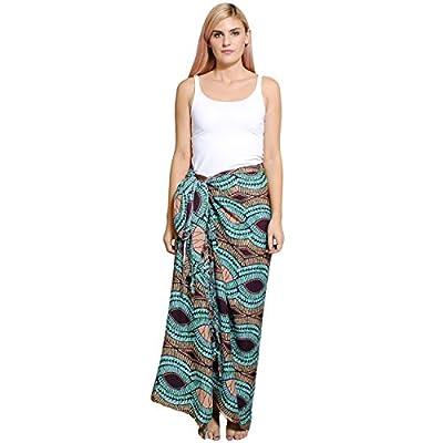 Silly yogi Womens Tribal Print Swimsuit Sarong beach wrap