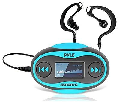 Pyle 4GB Waterproof MP3 Player/FM Radio with Waterproof Headphones