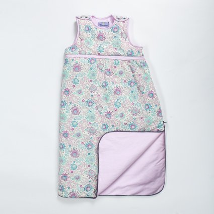 "Nini & Pumpkin ""Moon Cocoon Sleep Sack"", One Size Fits 6 -36 Months, Pink, Blue, Grey, Floral Or Elephants (Floral)"