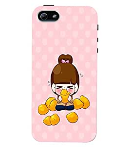 PRINTVISA Cute Girl Case Cover for Apple iPhone 5S