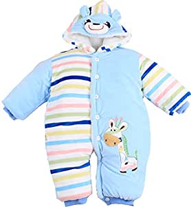Winter Warm Hoodie Toddler Romper Outfit Baby Cartoon Jumpsuit