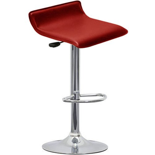 SOVI - NEW RED FAUX LEATHER BREAKFAST GAS LIFT BAR STOOL BARSTOOL KITCHEN PUB OFFICE CHAIR