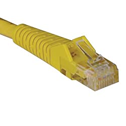 Tripp Lite N201-020-YW Cat6 Gigabit Yellow Snagless Molded Patch Cable RJ45M/M - 20 feet