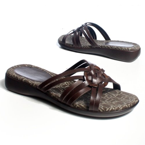 Image of Easy Spirit Women's Leather Platform Sandal Slippers Shoe Sz 7 (B003VWBGPC)