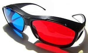 グッドライフEXPRESS 3Dメガネ 赤青 眼鏡の上から装着OK! 3D対応の映像鑑賞に [収納ポーチ&メガネクロスセット]