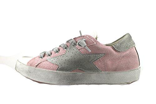 ISHIKAWA KIDS sneakers bambina 35 EU rosa tessuto camoscio AH961