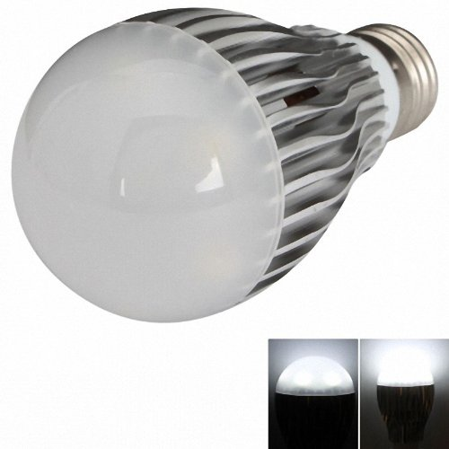 E27 7W 600-700 Lumen White Ball Bulb Light Silvery (85-265V)