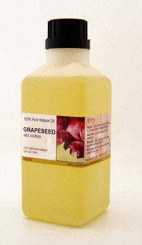 500ml Grapeseed 100% Pure Carrier Oil