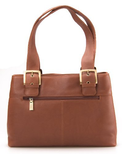 Visconti Leather Shopper Handbag Brown # 18666