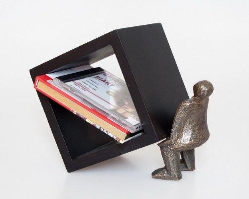 Porta cd oggetto ornamentale in legno nero for Oggetto casa