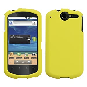 Yellow Phone Protector Cover(Rubberized) for HUAWEI U8800 (Impulse 4G)