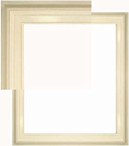 Natural Wood Frame 20 X 24 Open Back Pure White Melissa Style
