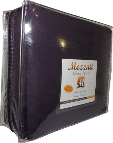 Mezzati Luxury Bed Sheets Set - Sale - Best, Softest, Coziest Sheets Ever! - High Quality 1800 Prestige Collection Brushed Microfiber Bedding - Mone