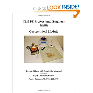 Civil PE Professional Engineer Exam Geotechninal Module by Ruwan Rajapakse