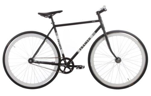 Framed Lifted Flat Bar Bike Single Speed Black/White 52cm
