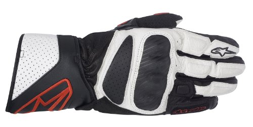 Alpinestars SP-8 2013 Leather Gloves Black/White/Red XL