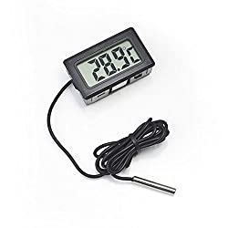 MCP Mini LCD digital thermometer sensor wired for Room temperaure Indoor Fish tank Aquarium Fridge Freezer with Batteries