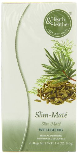 Heath and Heather Slim-mate 20 Teabags (Pack of 12, Total 240 Teabags)