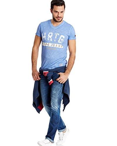Pepe Jeans London T-Shirt Manica Corta Milton [Blu Chiaro]