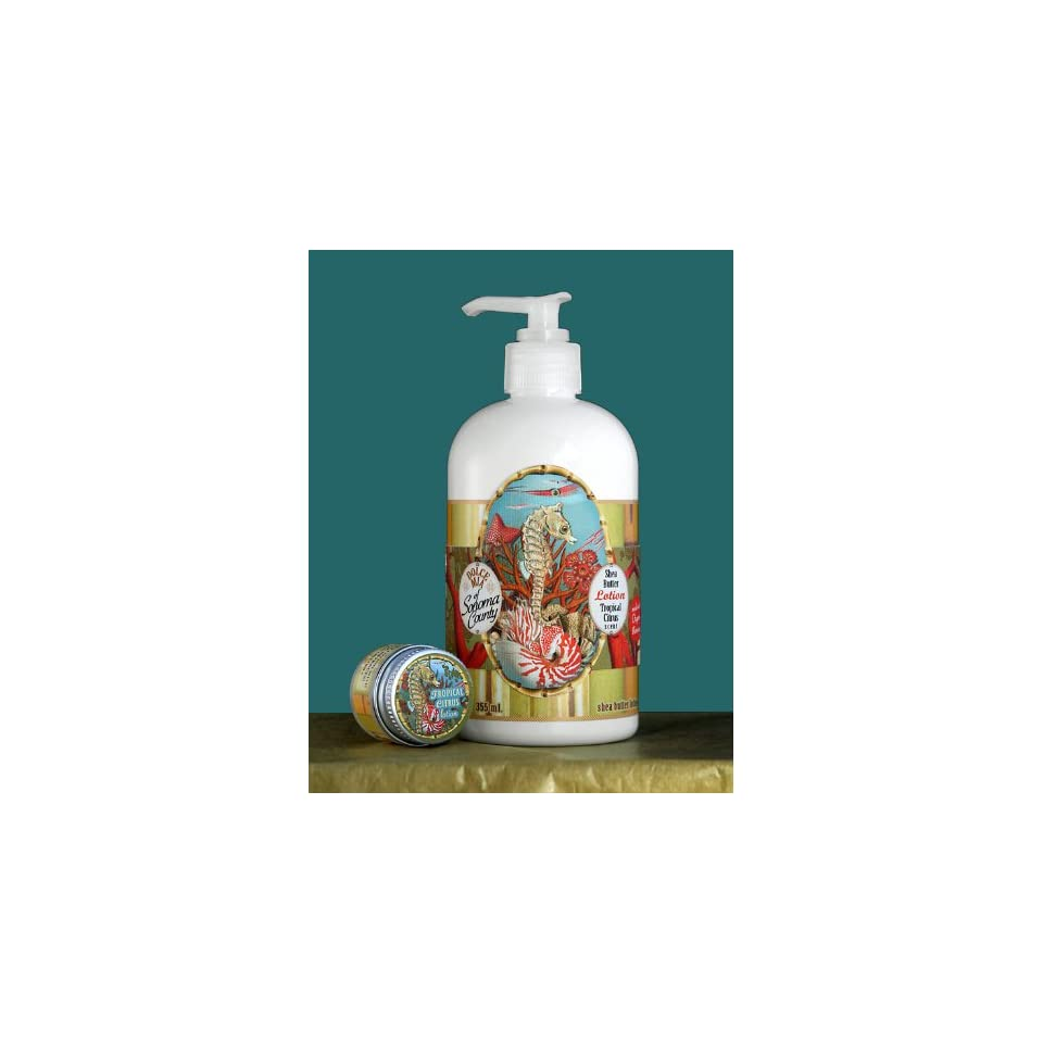Dolce Mia Reef Tropical Citrus Shea Butter Natural Lotion With Organic Botanicals 12 oz. Pump