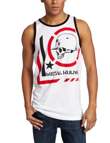 Metal Mulisha - Mens Era Tank Top, Size: Large, Color: Optic White