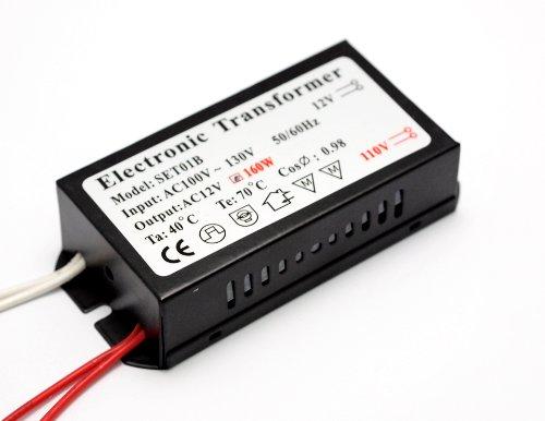 Illumi Projections 160W 100V-120V Halogen Spot Lamp Power Supply Low Voltage Transformer Mr16 Bulb Driver