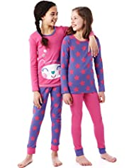 2 Pack Pure Cotton Star & Face Print Cosy Pyjamas